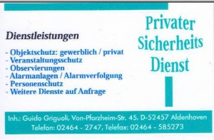 Privater Sicherheitsdienst